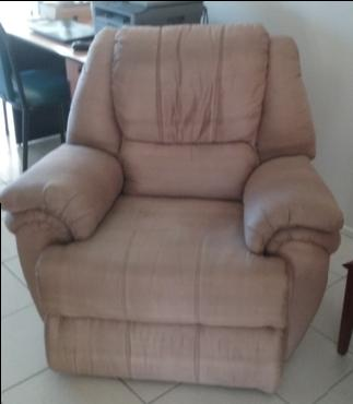 After photo of 10 year old Microfibre  lounge chair cleaned in Aspley, Brisbane