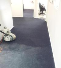 Commercial Carpet Cleaning - Halfway through a Commercial Office Carpet cleaning job in Yeronga, Brisbane