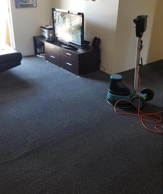 Carpet Cleaning Mansfield, Brisbane - Halfway through cleaning an extremely greasy loung room carpet in Mansfield, Brisbane.