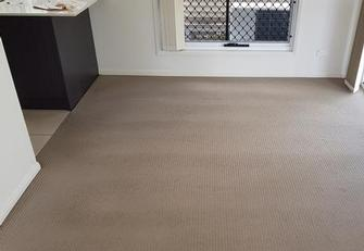 Annerley, Brisbane - The after picture of a job that had  apparently been cleaned the day before by another company. Look at the difference after cleaning using the V.I.P. Home Services Carpet Cleaning service.