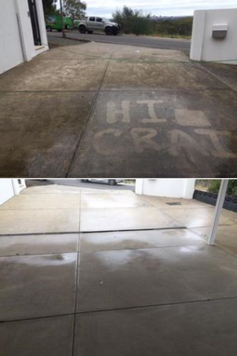 High Pressure Cleaning - before & after