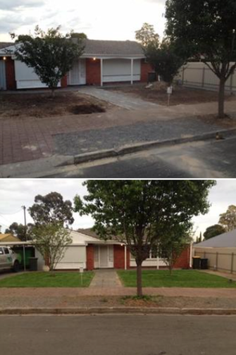 Lawn Installation - before & after - What a difference a good lawn makes!