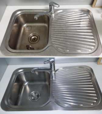 Sink Clean - before & after