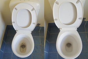 Toilet Clean - before & after