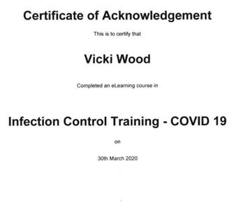 GOVERMENT INFECTION CONTROL CERTIFIED (COVID-19) MARCH 2020