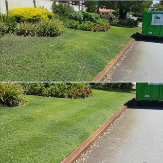 Before and After - Lawn Mowing in Shelley