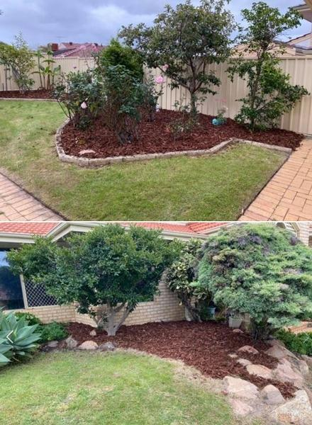 Nice little mulching job - The customer was very happy with the results.