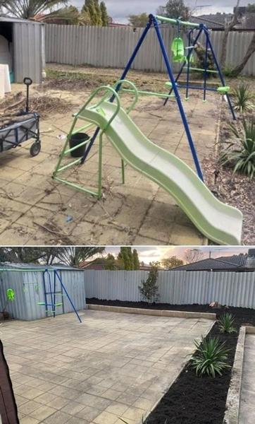 Garden Makeover - before & after - Such a good end result. The customer was very happy with the job.